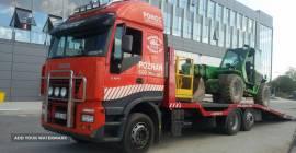 Transport wózków widłowych maszyn koparek Poz